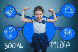 social media network  infographics set sketch teen girl clenched